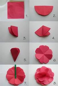 Papierblumen Aus Servietten : papier falten f r papierblumen kinder spielen basteln pinterest papier blumen und blumen ~ Yasmunasinghe.com Haus und Dekorationen