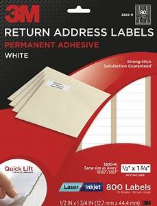 3m return address labels white 1 2 inch x 1 3 4 inch 10 With 3m address label template