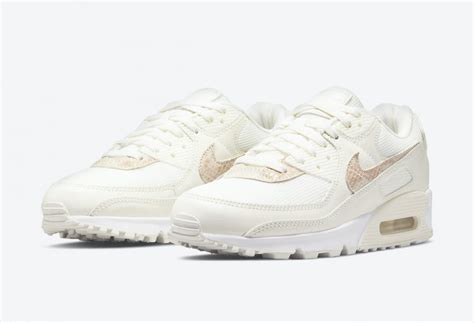 "Nike Air Max 90 ""Beige Snake"" Sail/Particle Beige-White ..."