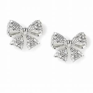 Sparkly Bow Stud Earrings | Claire's | wed | Pinterest