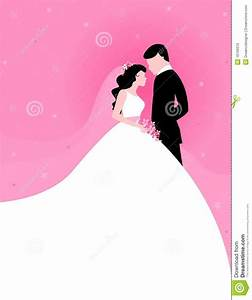 Couple With Pink Background Stock Vector - Illustration of ...