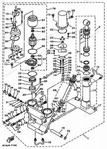 Yamaha Outboard Parts By Hp 250hp Oem Parts Diagram For Power Trim Tilt Assembly 1