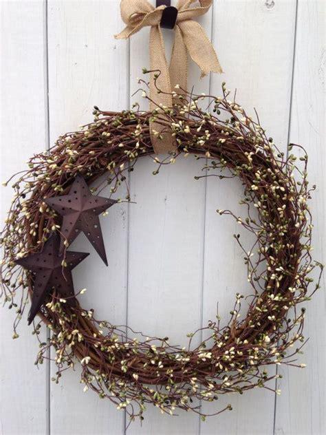 rustic wreaths rustic wreath primitive wreath country wreath green wreath star w
