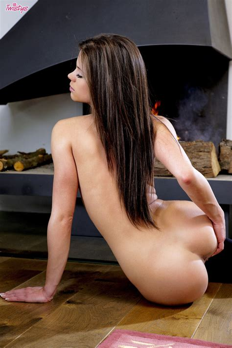 Caprice Has A Seductive Look On Her Face While She Is