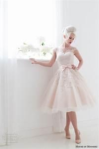 house of mooshki spring 2015 wedding dresses wedding With blush tea length wedding dress