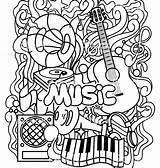 Coloring Pages Instrument Instruments Musical Printable Music Getcolorings sketch template