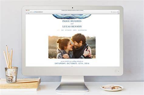 designer wedding websites  minted sponsors oncewedcom