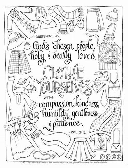 Coloring Pages Humility Printable Yourself Scripture Adult