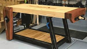 Ultimate Woodworking Workbench Build Woodbrew - YouTube