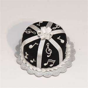 Black Music Note Cake Stewart Dollhouse Creations