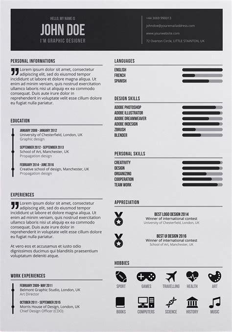 free graphic designer resume in psd format resume