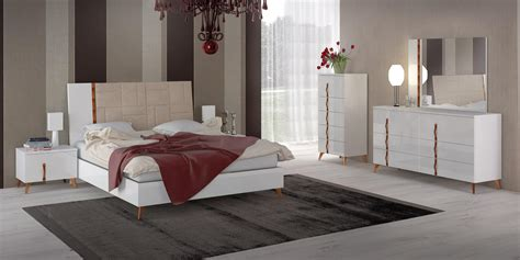 italy leather elite modern bedroom sets  extra