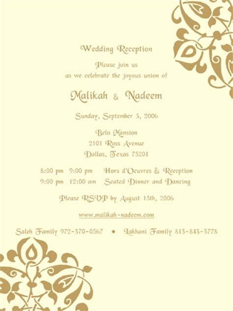 sle wedding program wedding invitation letter format kerala wedding invitation ideas