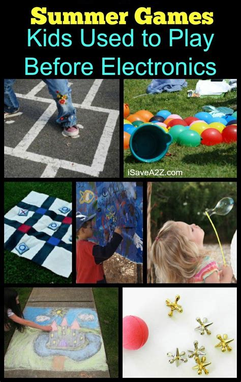 Old Time Summer Games and Activities for Kids Summer fun