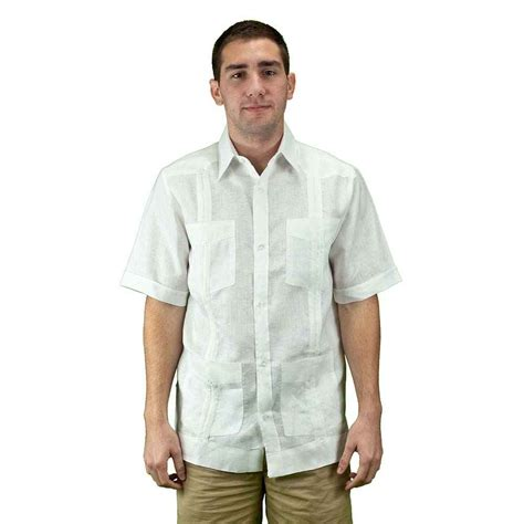 Men Linen Guayabera Shirt   On sale today!, Ships free on $40