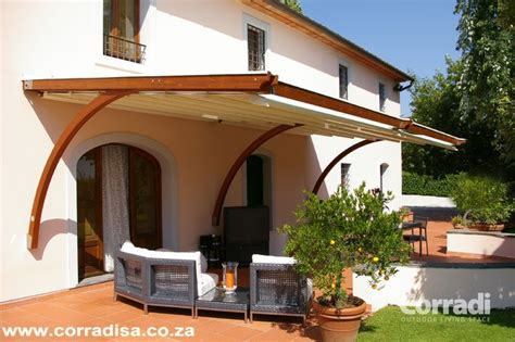 pergotenda patio awnings  retractable roofs  corradi contemporary outdoor products