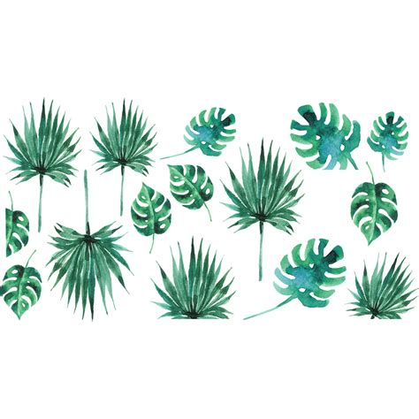 cuisine amour sticker feuilles tropicales stickers nature feuilles