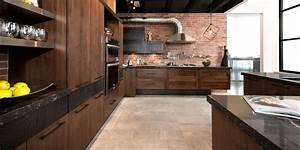 Cuisine Moderne En Bois : loft cuisine bois noyer fr ne quartz ~ Preciouscoupons.com Idées de Décoration