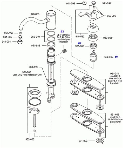Pfister Kitchen Faucet Repair Parts by Price Pfister Kitchen Faucet Parts Diagram Automotive
