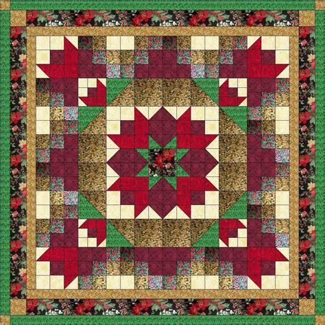 pre cut quilt kits quilt nine patch poinsetta kit pre cut fabrics