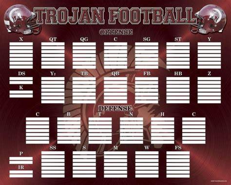 blank football depth chart template sampletemplatess