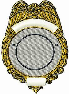 Digital Giggle Embroidery Design: Blank Police Badge 3.40 ...