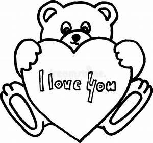 Teddy bear with heart stock illustration. Illustration of ...