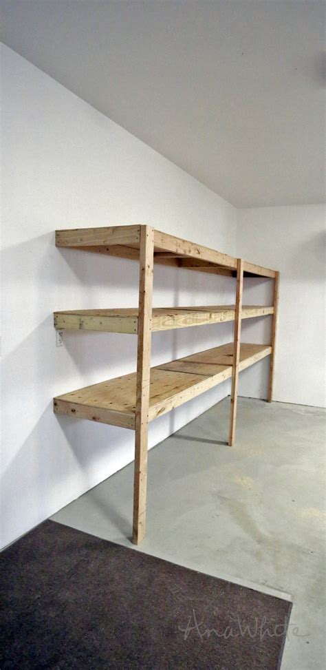 Garage Shelving Projects by White Easy And Fast Diy Garage Or Basement Shelving