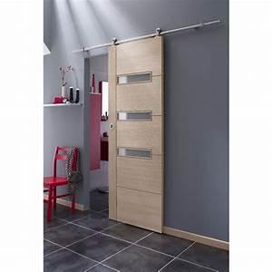 Porte coulissante salle de bain lapeyre for Porte de douche coulissante avec meuble salle de bain nordique
