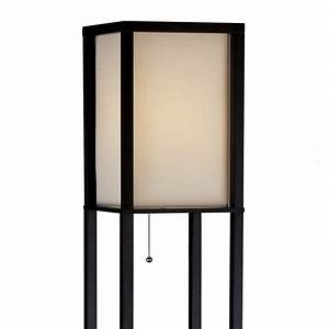 adesso wright real wood tall floor lamp black l brilliant With wood display floor lamp