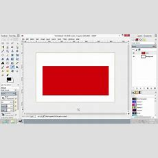 How To Create Rectangle In Gimp Youtube