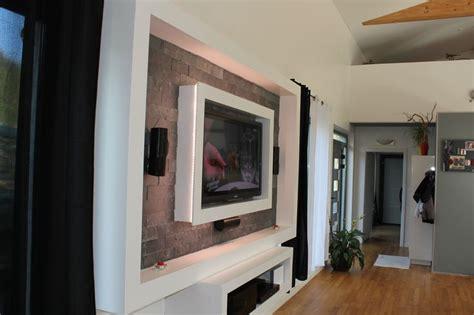 panneau de chambre meuble tv plaque de plâtre de montage