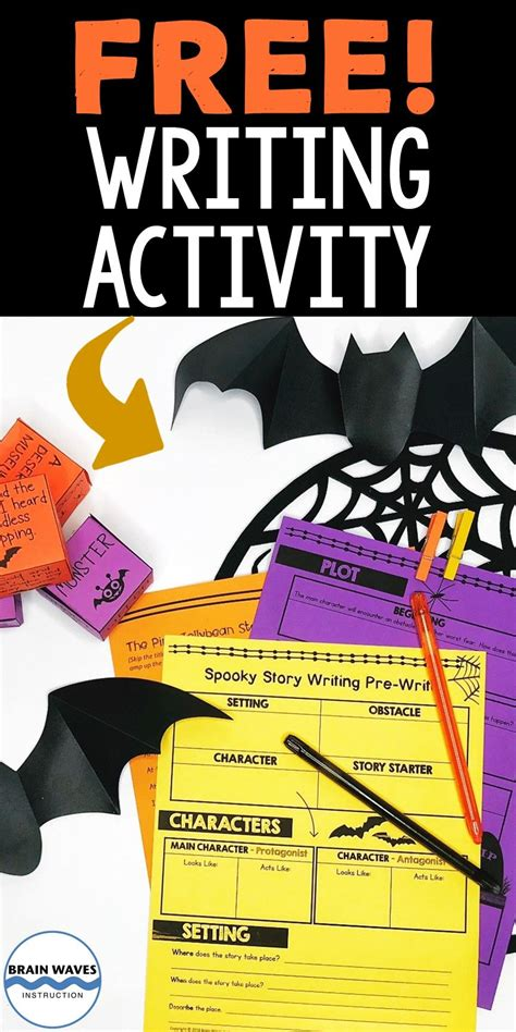 spooky story writing halloween writing activity