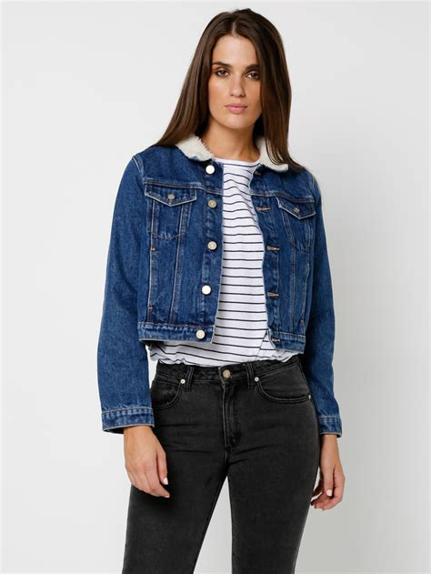 denim vest abrand a sherpa denim jacket in denim