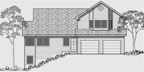 home plans for sloping lots hillside home plans with basement sloping lot house plans