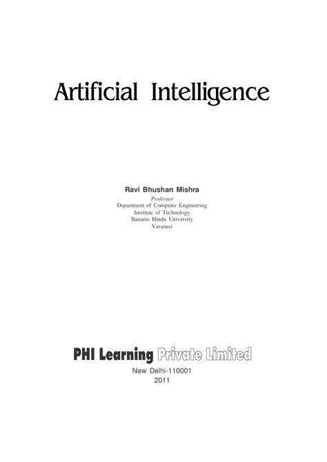 Download Artificial Intelligence by MISHRA, R. B. PDF Online