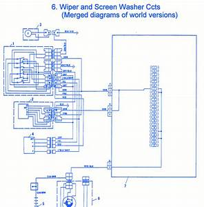Fiat Uno 1990 Wiper Electrical Circuit Wiring Diagram