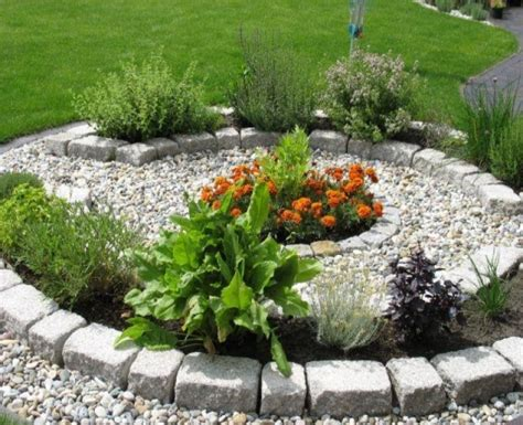 Gartengestaltung Ideen Vorgarten Mit Krautersteine Im