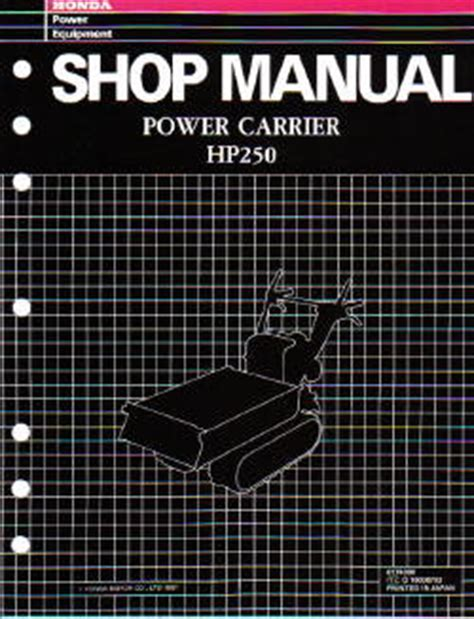 honda hs snowblower shop manual