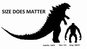 King Kong v Godzilla Size Comparison