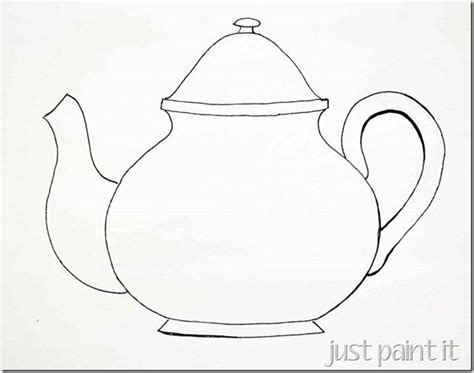 Tea Cup And Teapot Coloring Pages Sketch Coloring Page