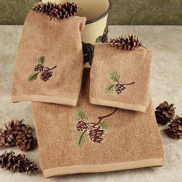 pinehaven rustic pine cone bath towel set a new house