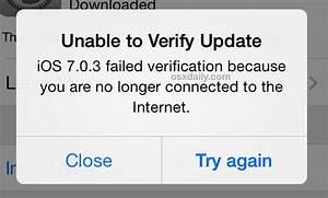 """Fixing the """"Unable to Verify Update"""" Error in iOS"""