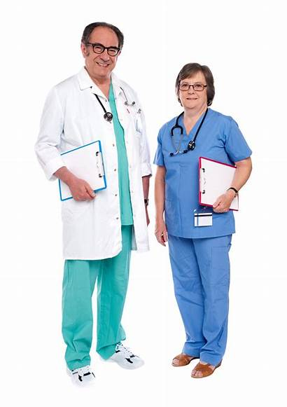Doctor Male Female Nurse Mannelijke Arts Senior
