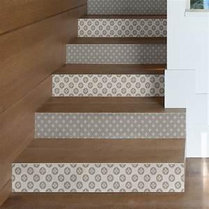 Escalier Carreaux De Ciment : stickers escalier carreaux de ciment konrad x 2 ambiance ~ Dailycaller-alerts.com Idées de Décoration