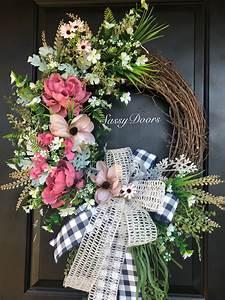 summer, wreaths, , door, wreath, , peonies, wreath, , wreath, for, front, door, , welcome, wreath, , front, door