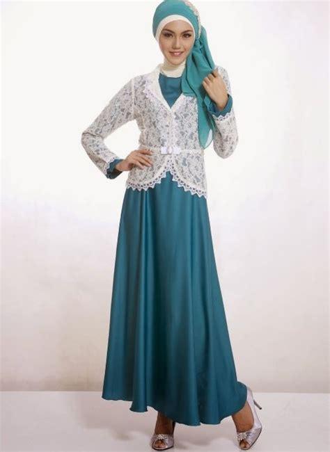model baju pesta muslim  blazer brokat