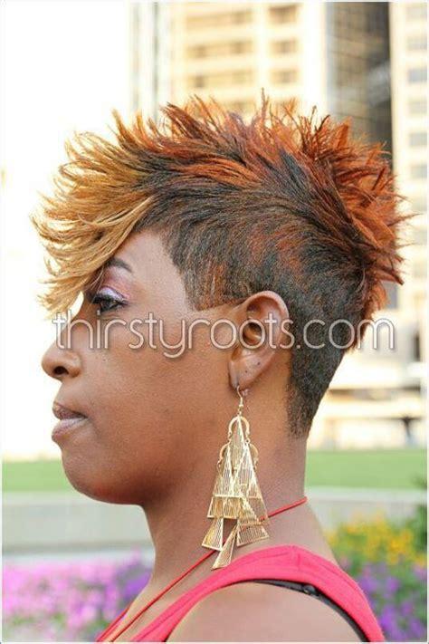 faux hawk hairstyle  black women short black