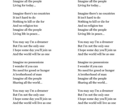 Testo Imagine Traduzione by Song Worksheet Imagine By Lennon