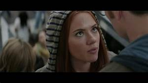 Captain America and Black Widow kiss - YouTube